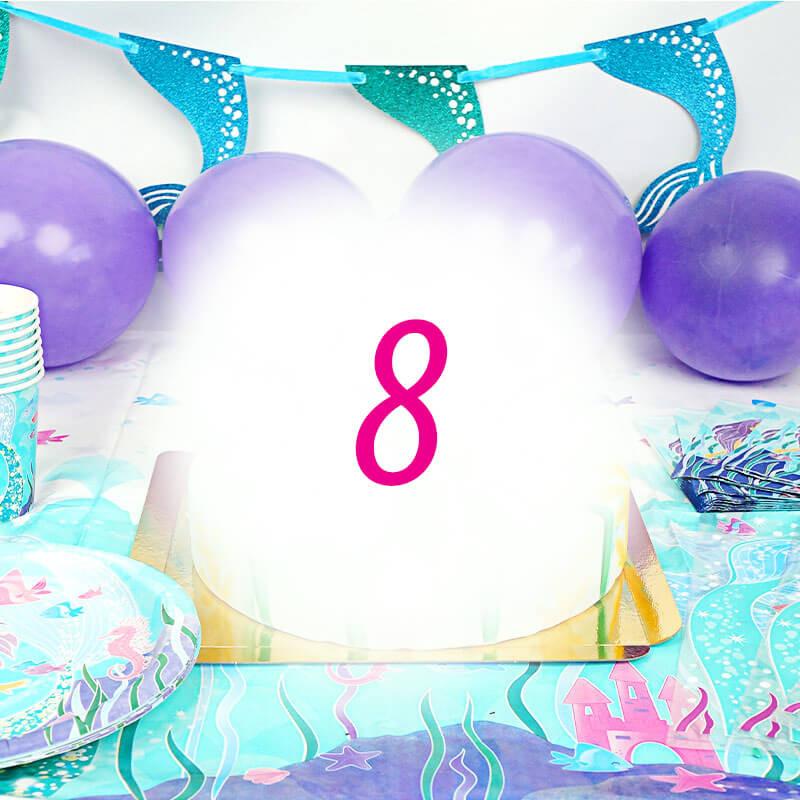 Meerjungfrauen-Partyset für 8 Personen - ohne Torte