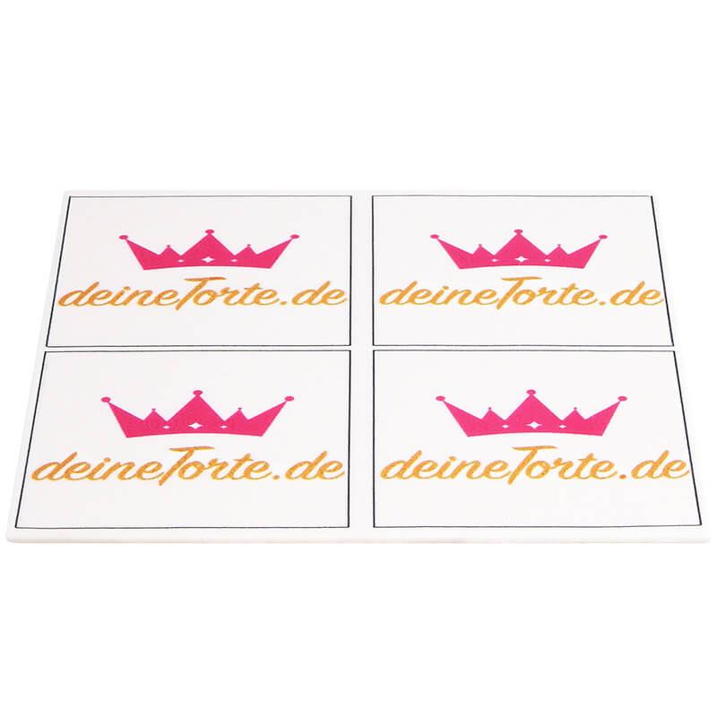 Taartenopdrukken vierkant 18x18 cm