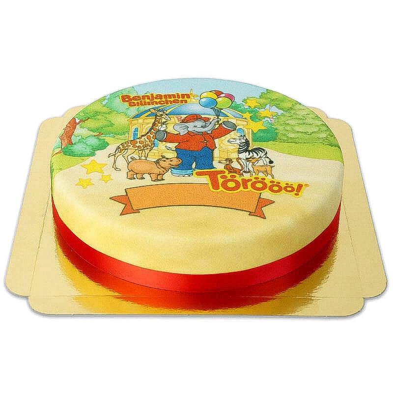 Benjamin auf Zootier Torte