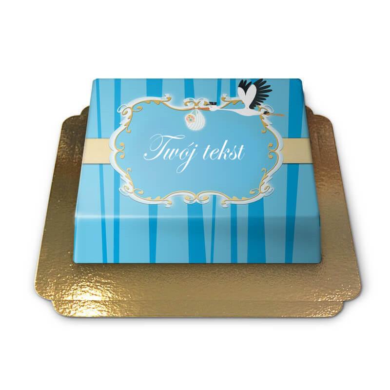 Tort - Bocian z niemowlęciem, niebieski