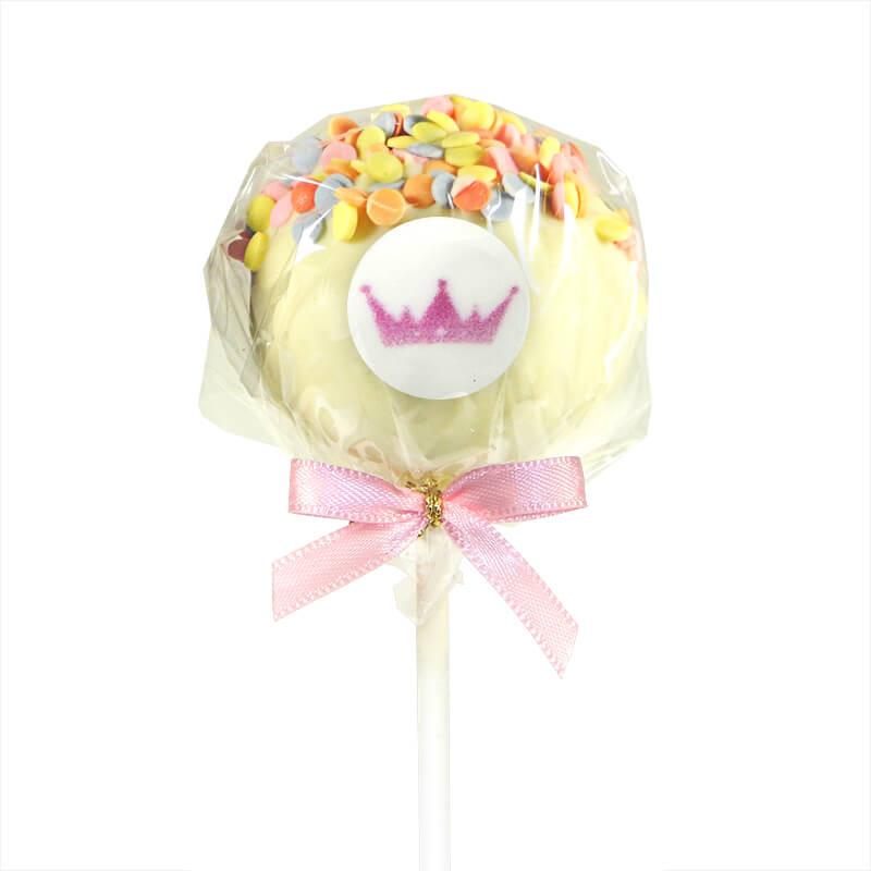 Cake-Pops z logiem, kolorowa posypka