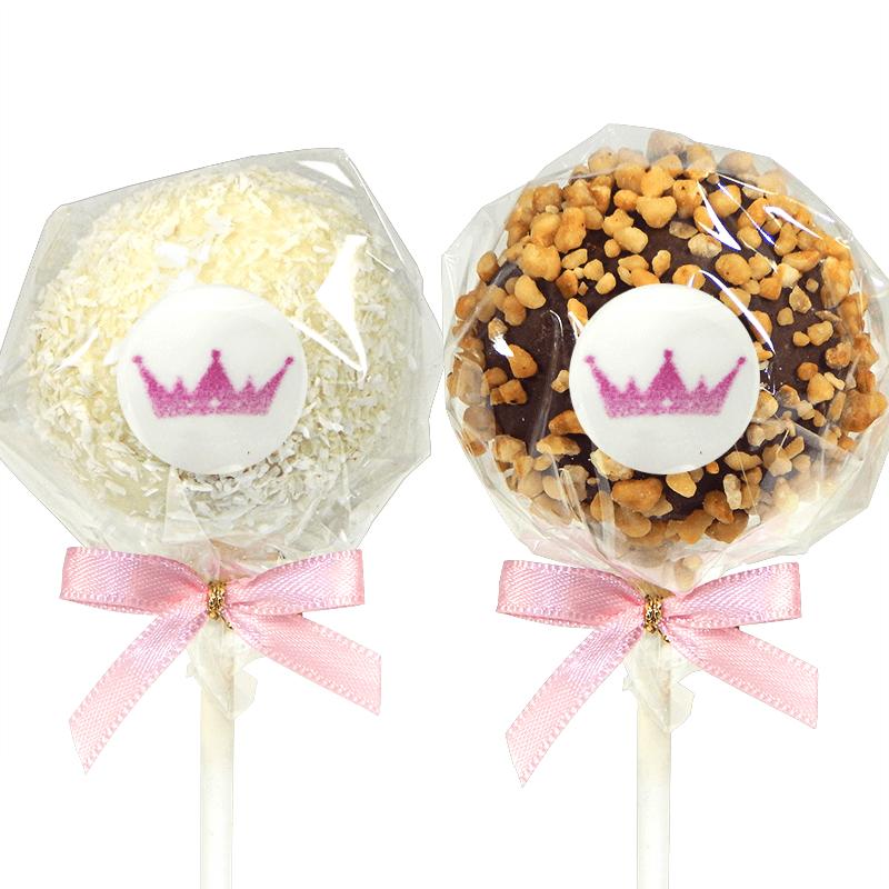 Cake-Pops z logiem, orzech laskowy & wiórki kokosowe (6 sztuk)