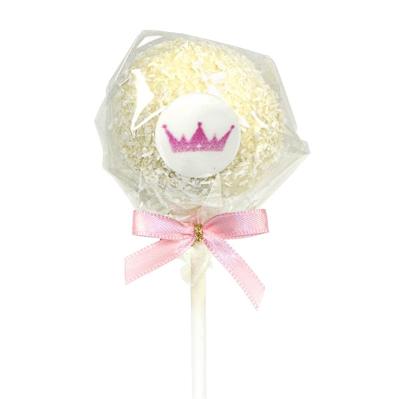 Cake-Pops z logiem, wiórki kokosowe