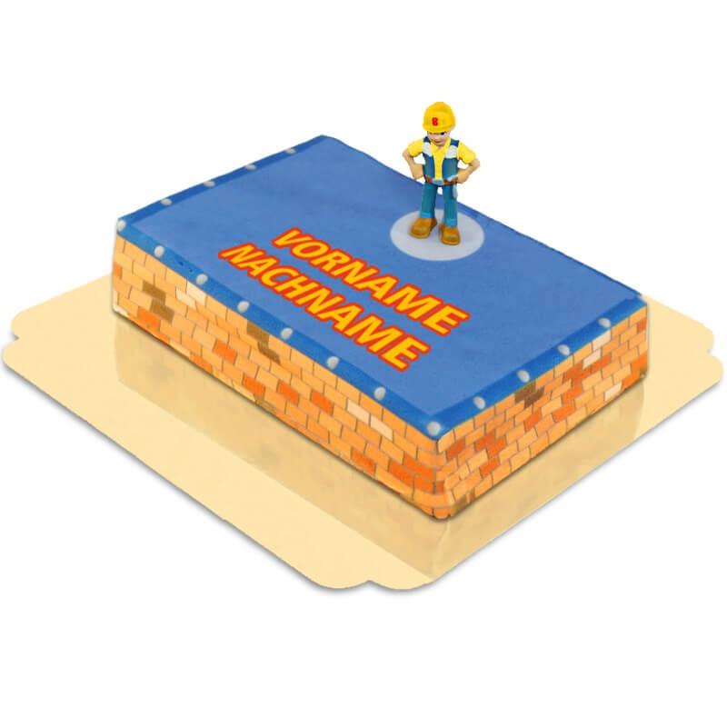 Bob der Baumeister auf Baustellen-Torte