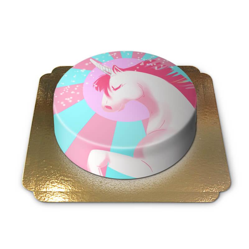 Einhorn-Torte Pink-Blau