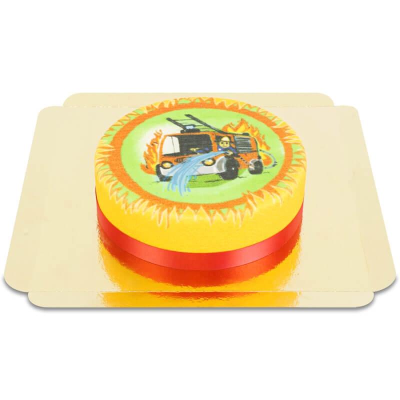 Feuerwehrauto-Torte