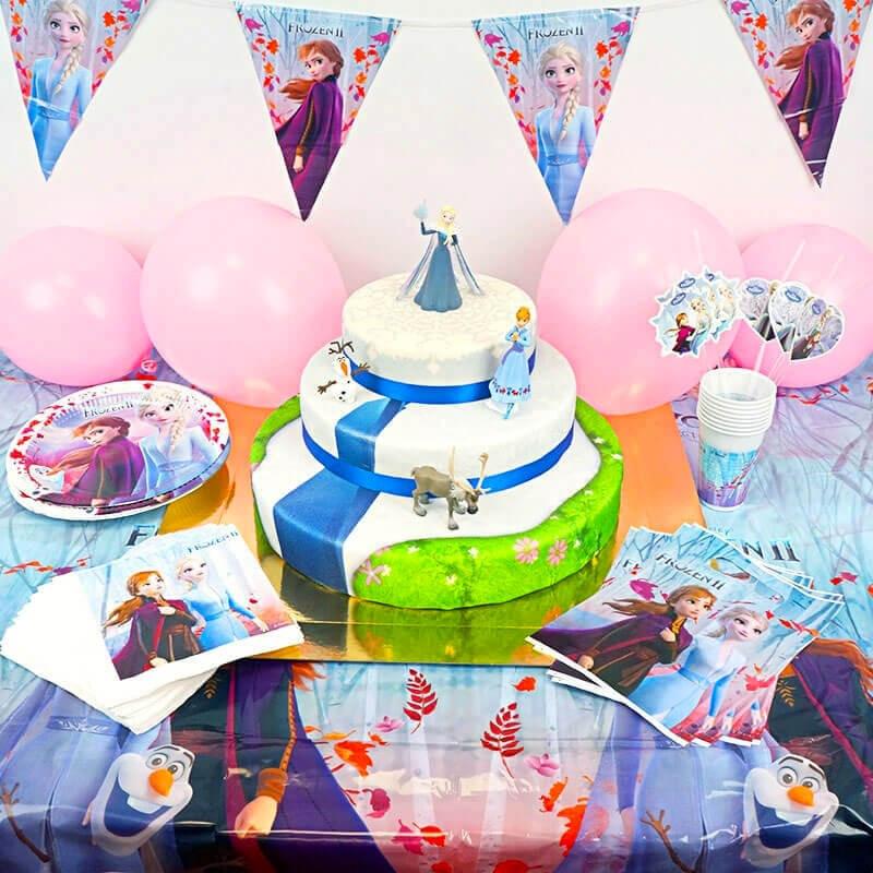Kraina lodu Partyset - zestaw z tortem