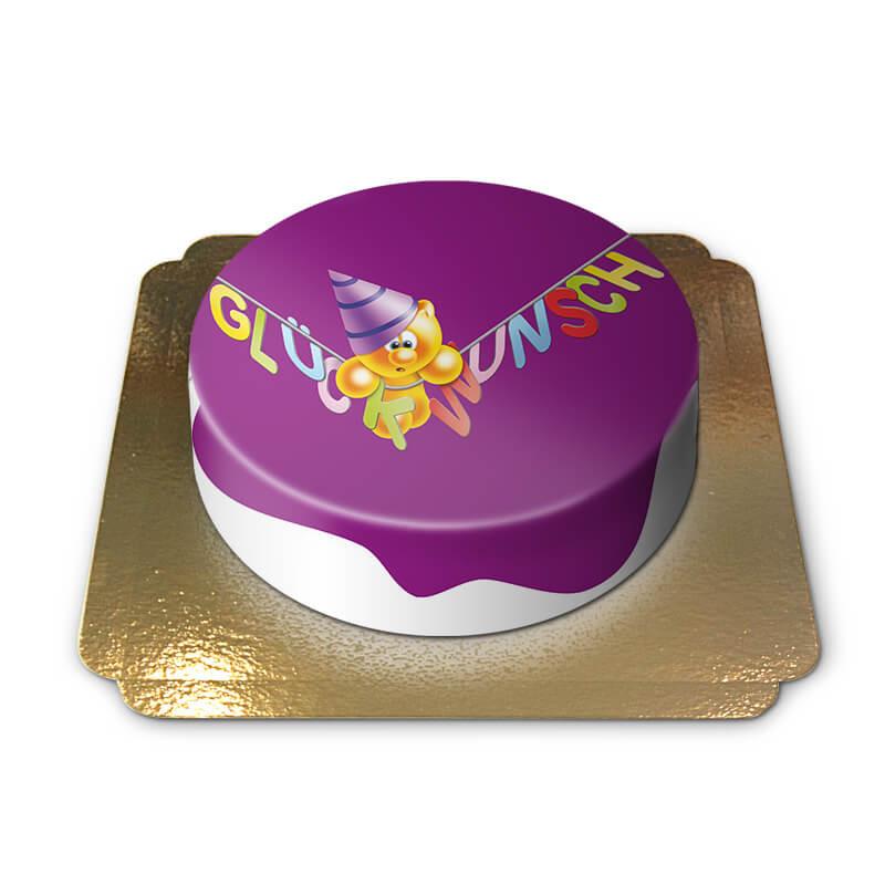 Gelini Torte - Lila Glückwunsch