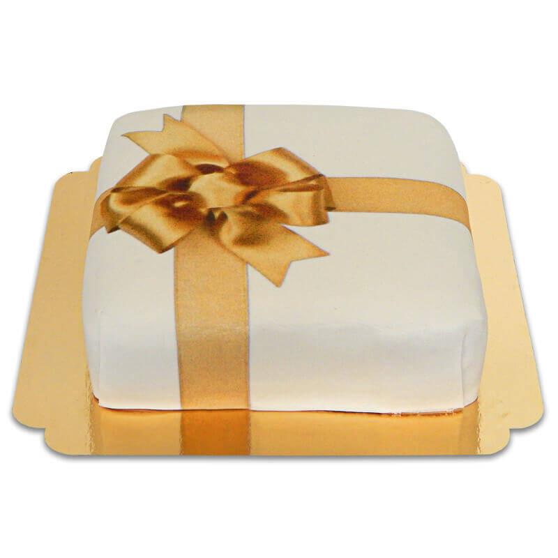 Geschenk-Torte weiß