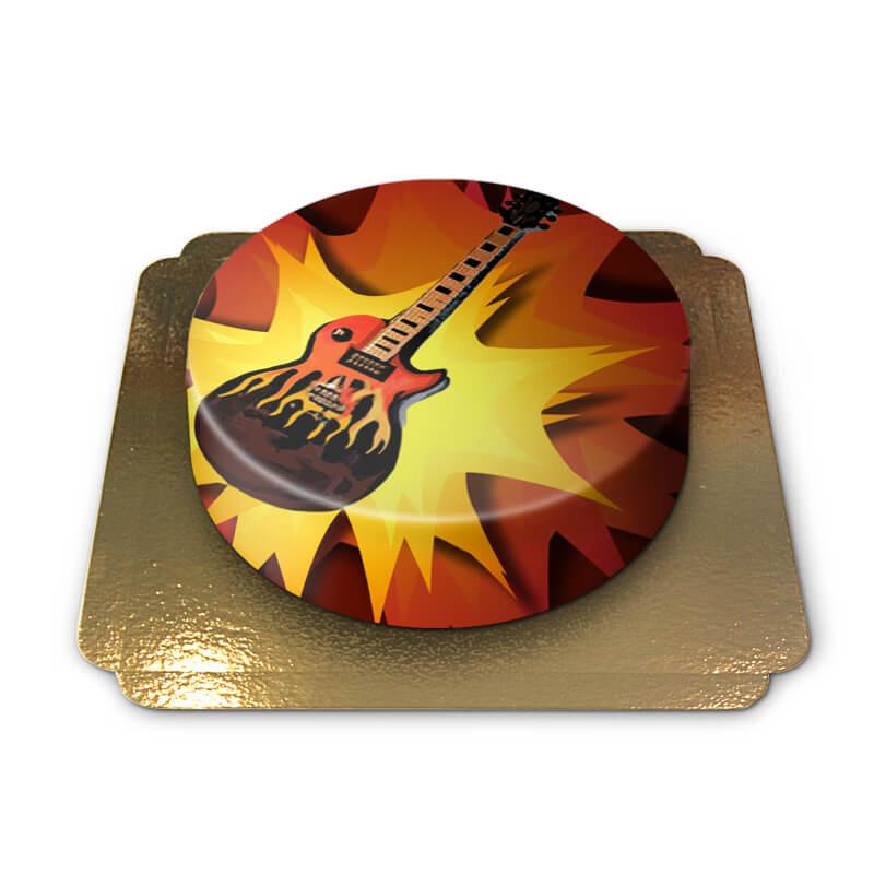 Tort z gitarą elektryczną