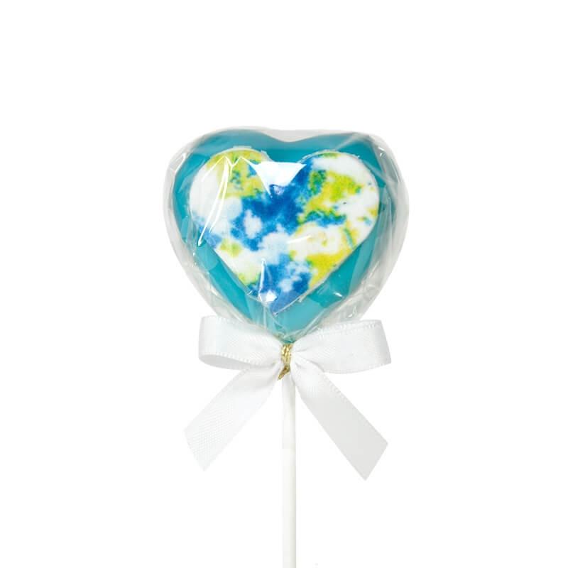 Blauer Herz Cake-Pop