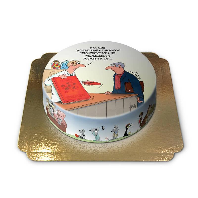 Hochzeitstag Geschenk Torte