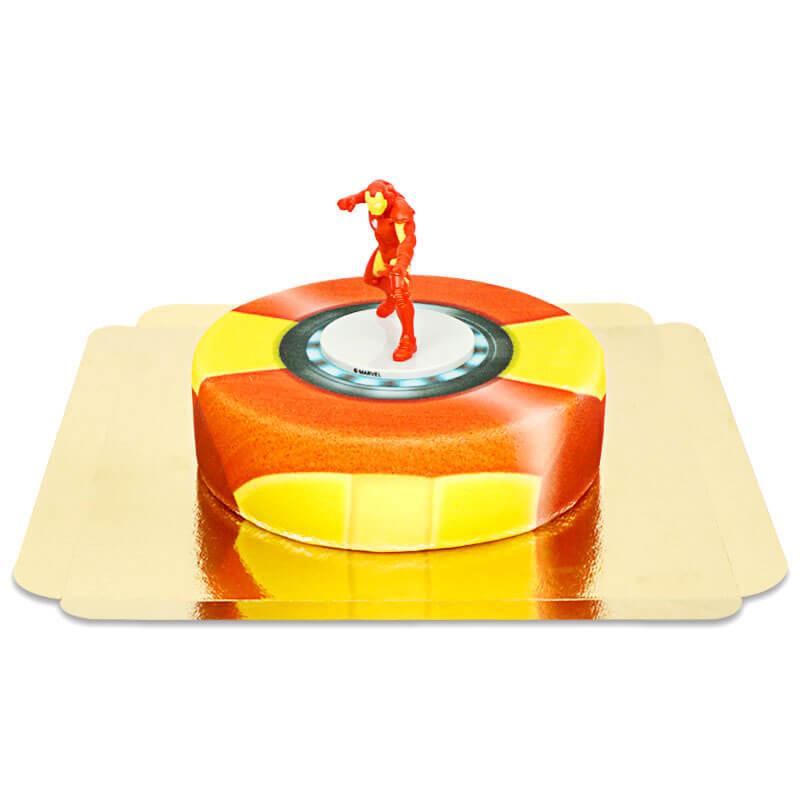 Iron Man auf Rüstungs-Torte