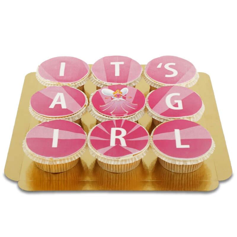 It's a girl Cupcakes, 9 Stück