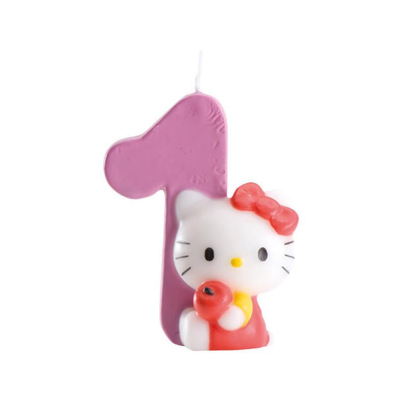 Świeczka tortowa Hello Kitty z cyfrą 1