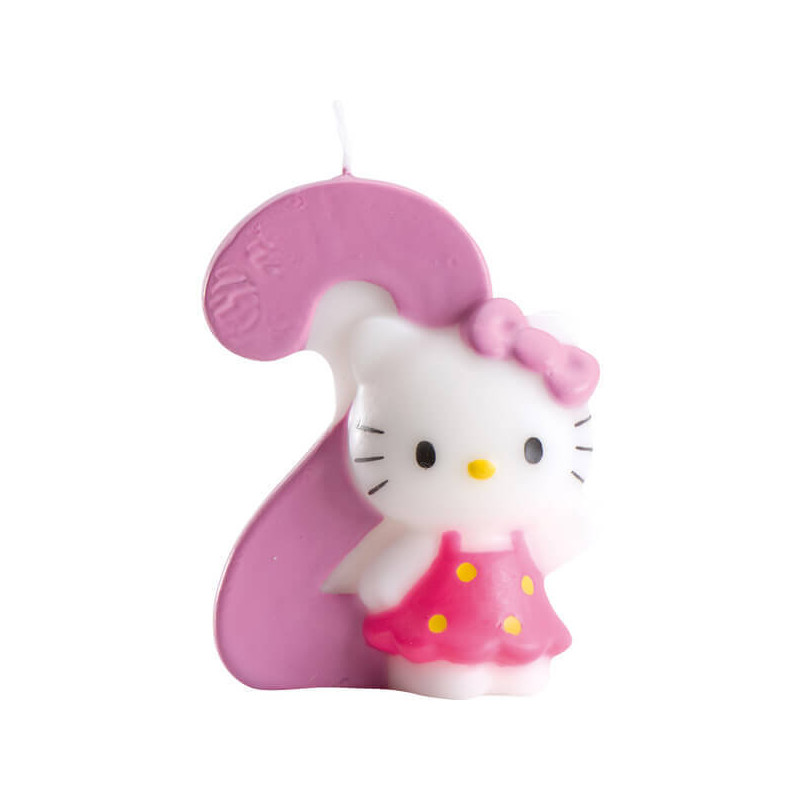 Hello Kitty Tortenkerze, Zahl 2
