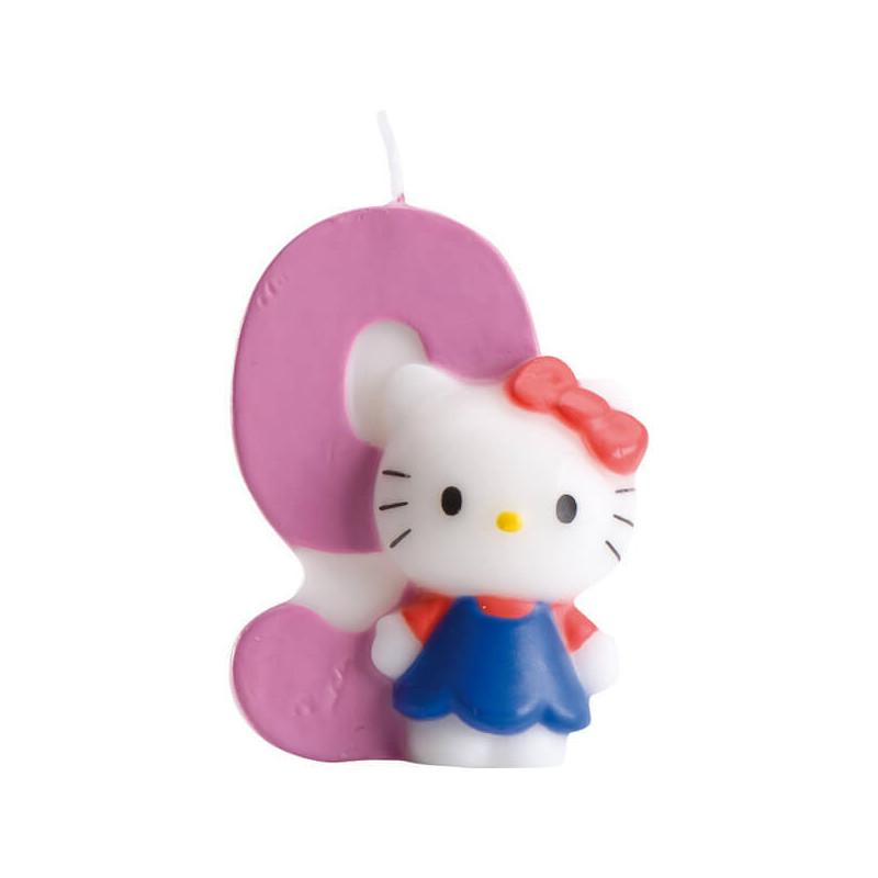 Hello Kitty Tortenkerze mit Zahl 9