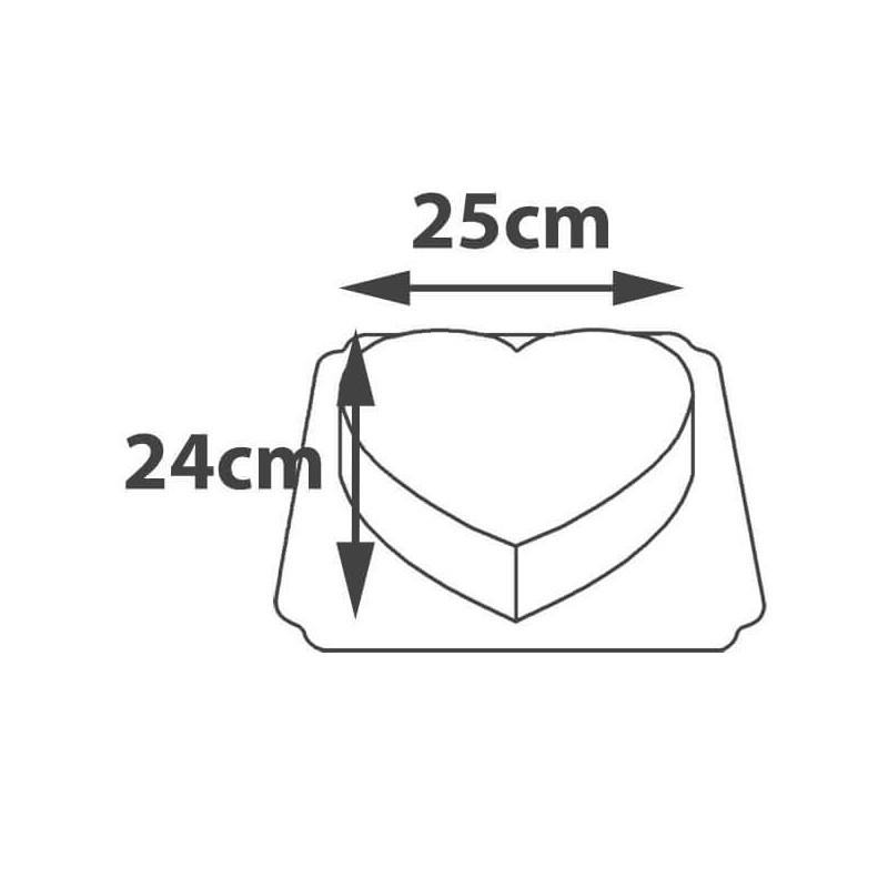 Wymiary tortu w kształcie serca
