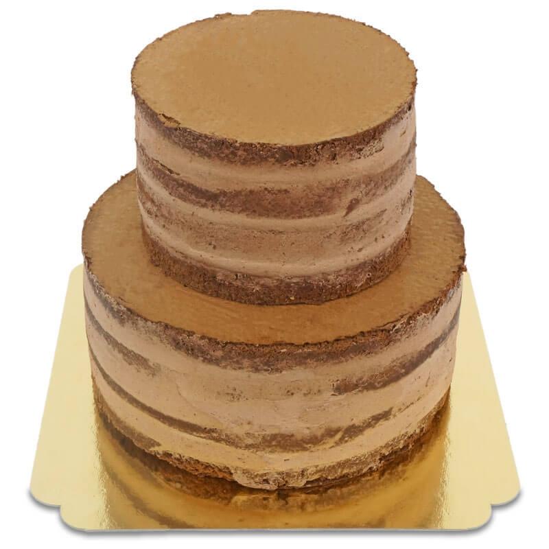 Schokoladiger Naked Cake zweistöckig