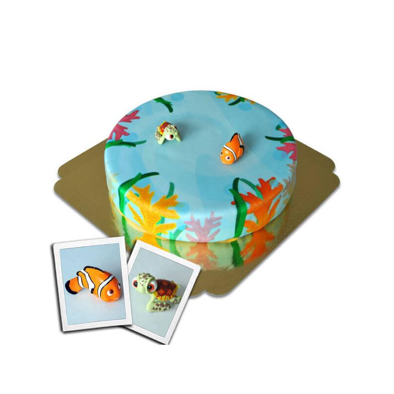 Nemo i Squirt na morskim torcie