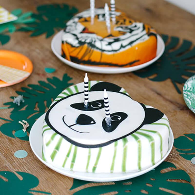 Panda Tårta på djungel-Party