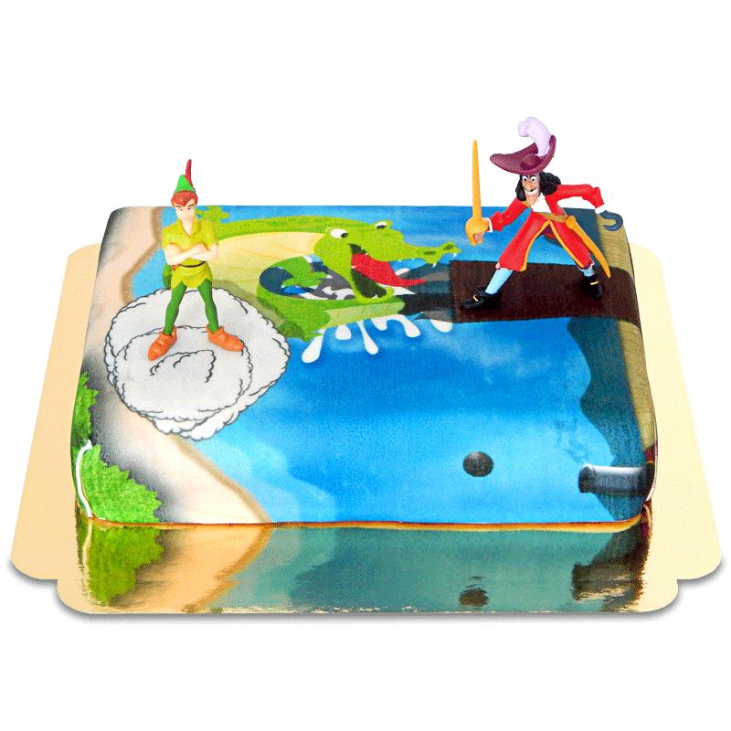 Peter Pan & Käpt'n Hook auf Nimmerland-Torte