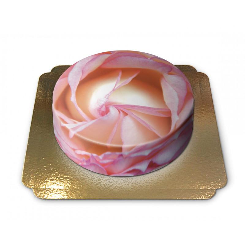Tort różowa róża