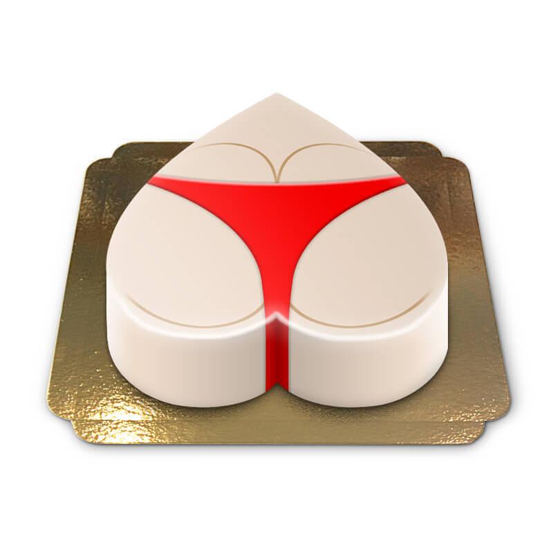 Tort pupa w czerwonym bikini