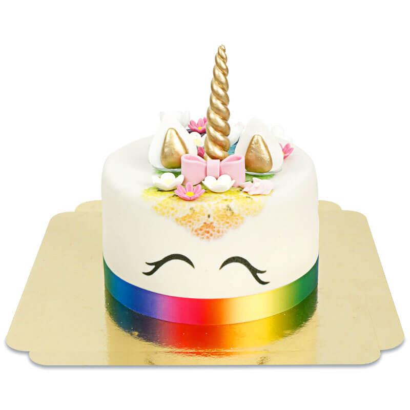 Regenbogen Einhorn-Deluxe-Torte - doppelte Höhe