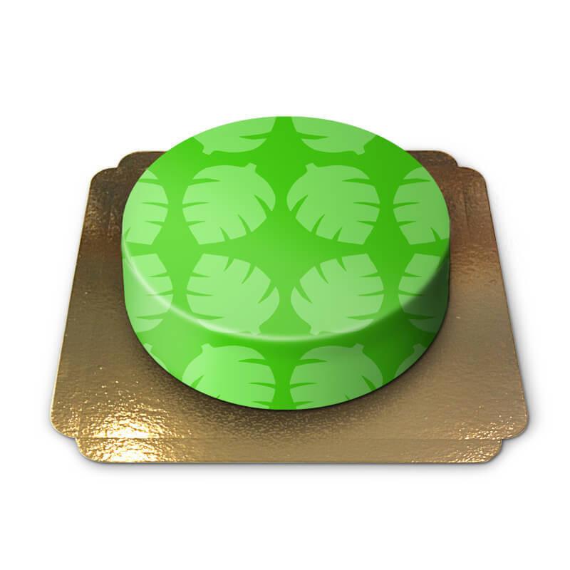 Zielony tort ze wzorem safari