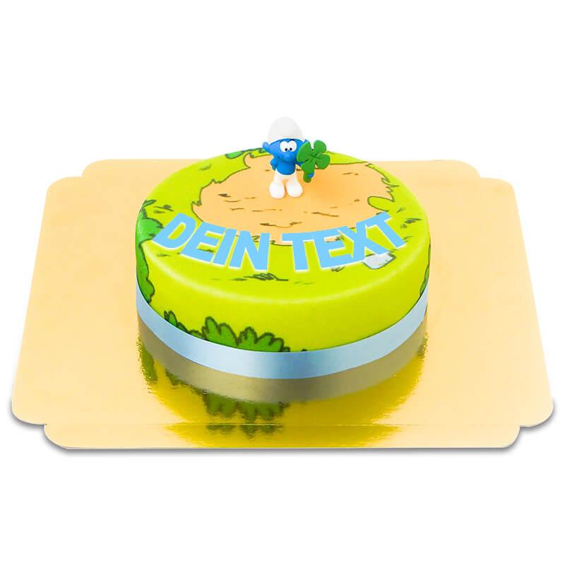 Schlumpf auf Torte