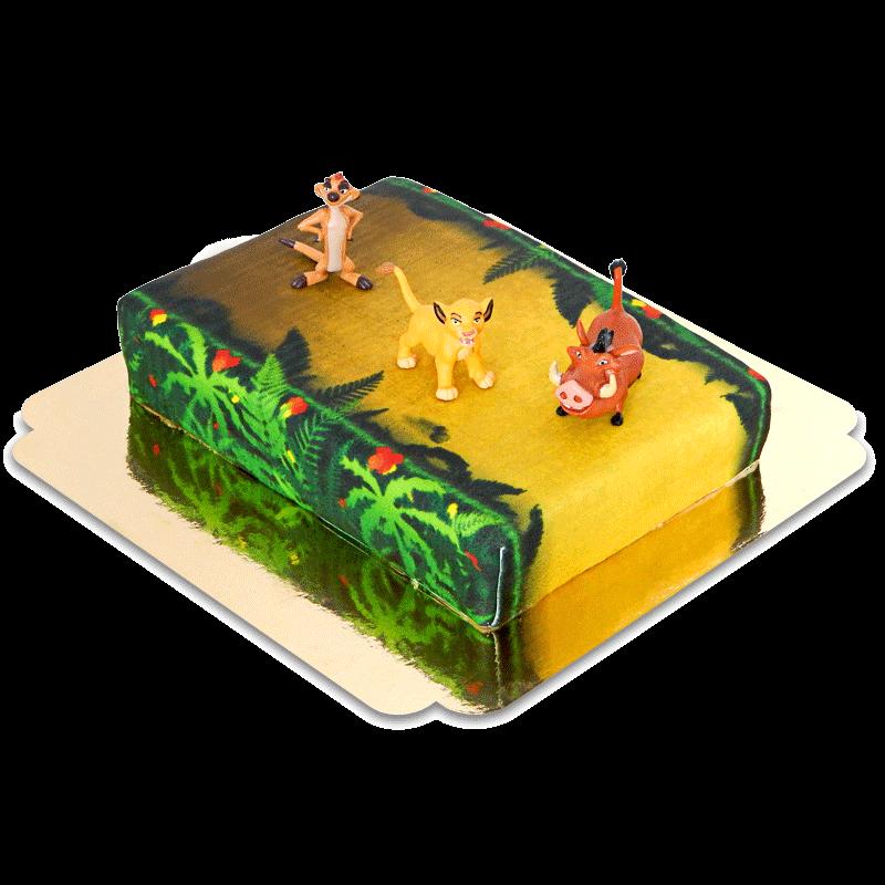 Simba, Timon & Pumba auf Dschungel-Torte