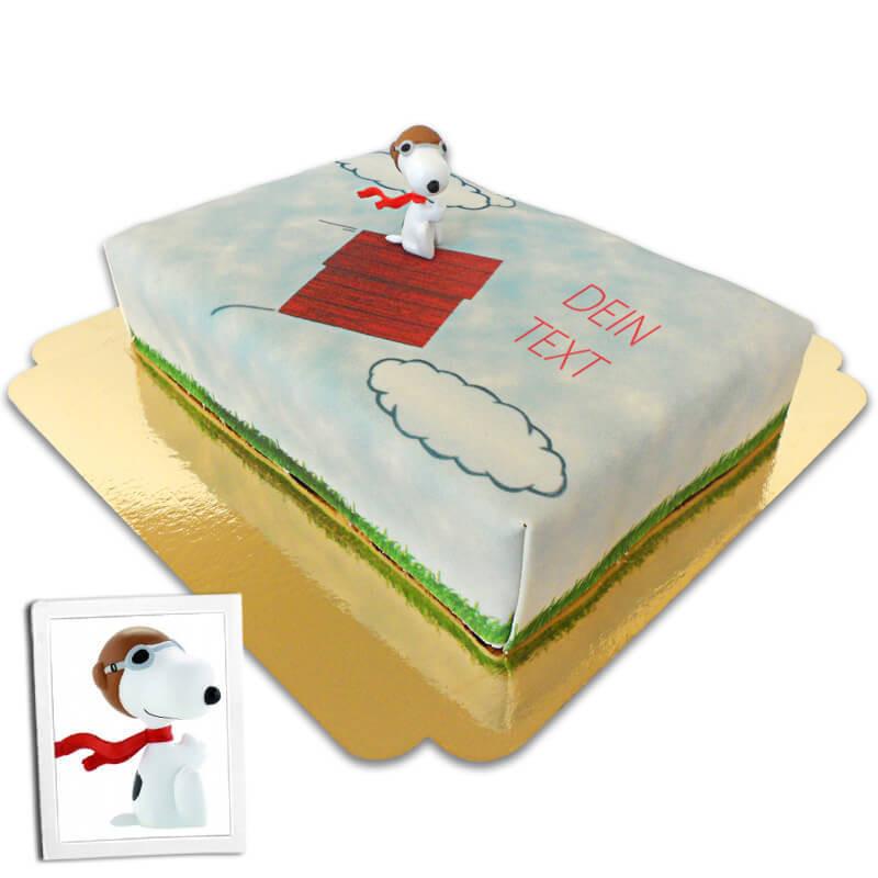 Snoopy auf fliegender Hundehütte-Torte