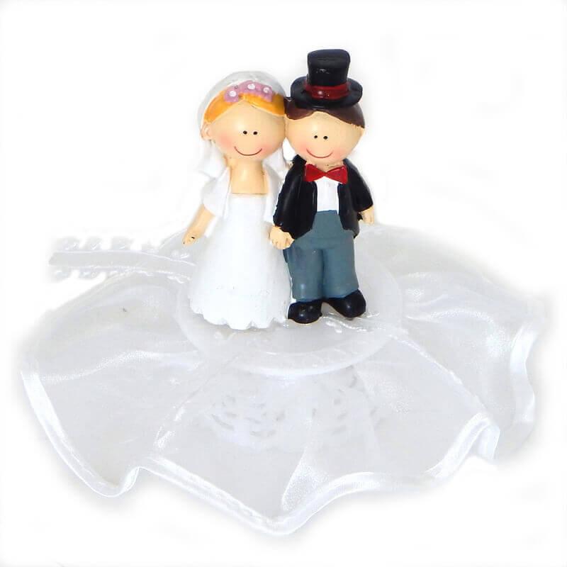 Hochzeitstorten-Dekoration: Glückliches Brautpaar, Tortenfigur