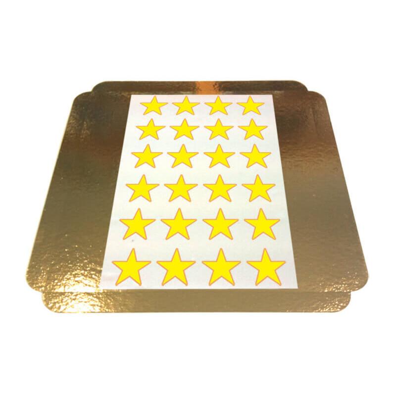 Eetbare print sterren