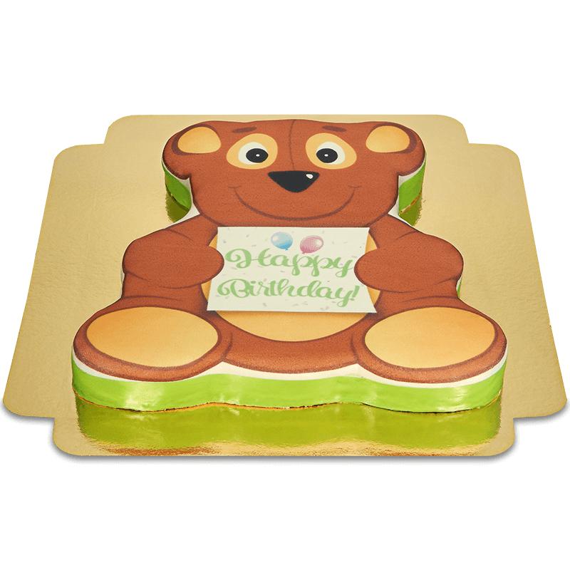 Tort w kształcie misia - urodzinowy
