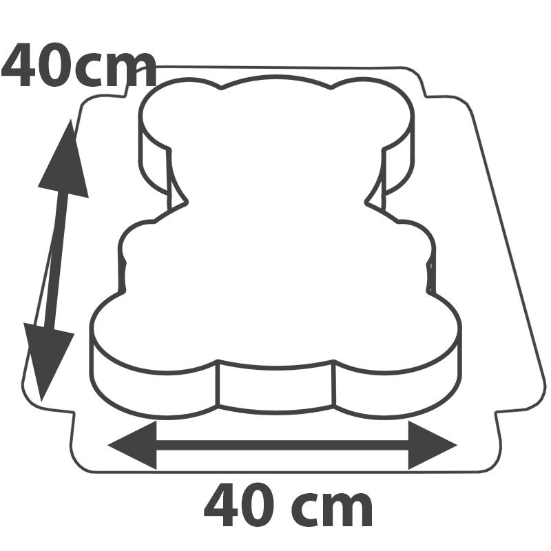 Wymiary tortu w kształcie misia