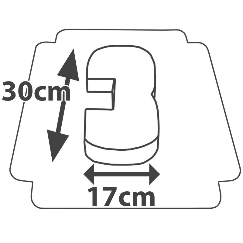 Wymiary Tort w kształcie cyfry