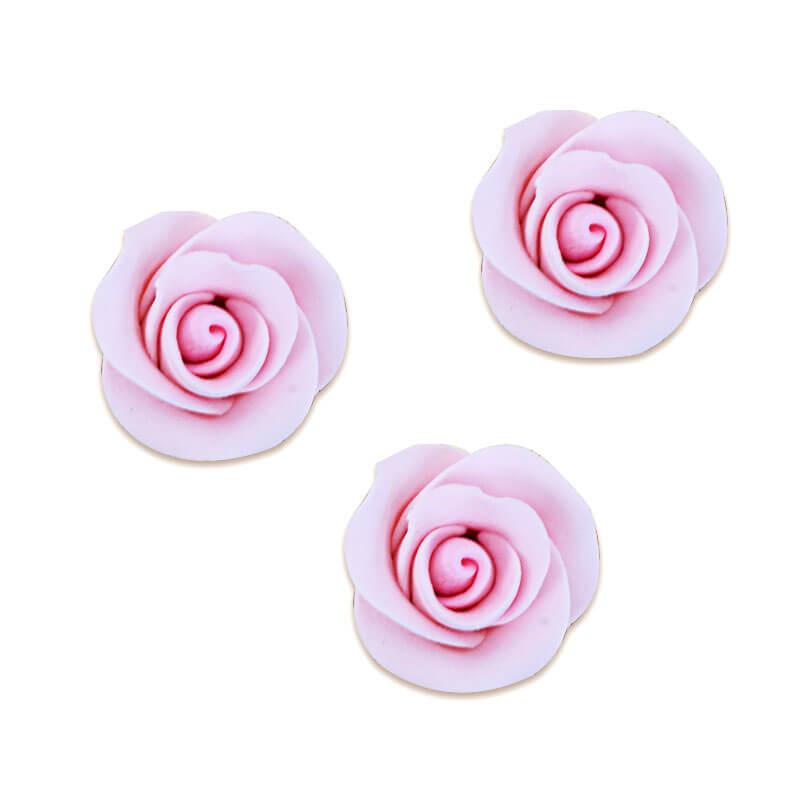 Zucker-Rose Pink, ca. 28 mm (3 Stück)