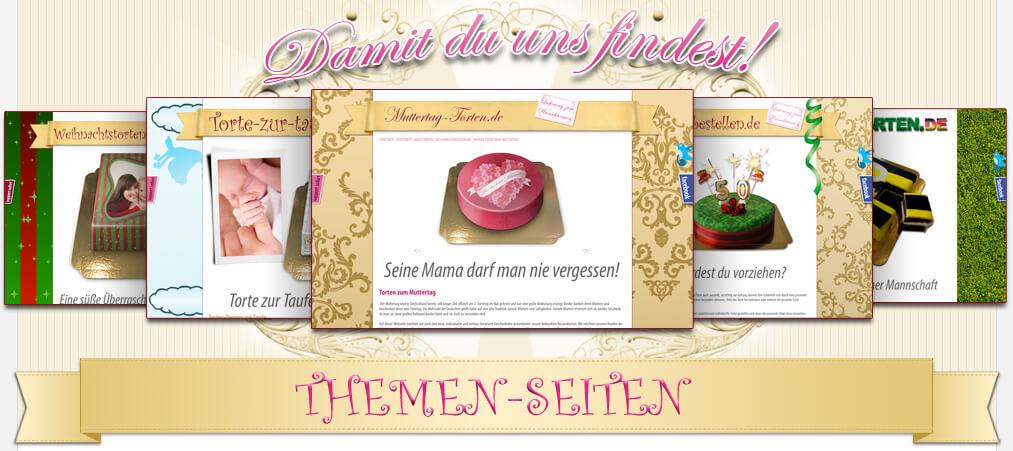 Themen-Seiten von deineTorte.de
