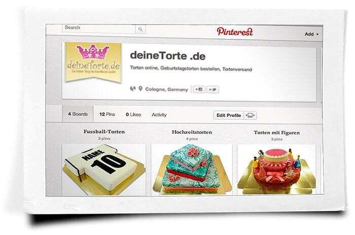 deineTorte.de bei Pinterest
