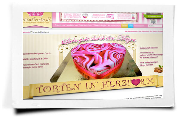 Torten in Herzform bestellen