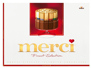 Merci Finest Selection als Dankeschön an Kunden & Mitarbeite verschicken