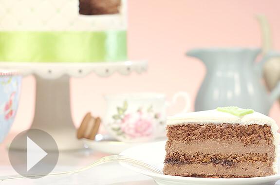 Schoko-Fudge-Torte
