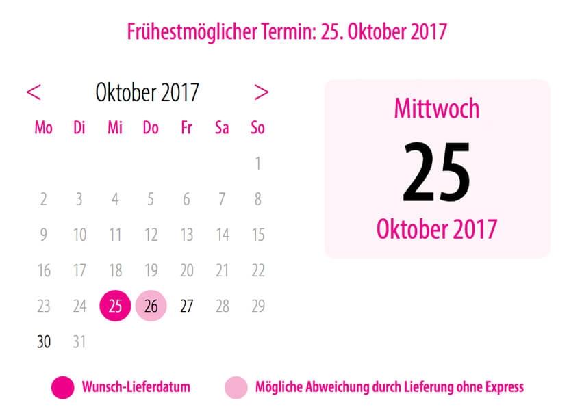 Datum im Kalender für dein Wunschtermin auswählen